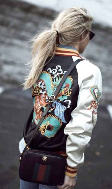 embroidered bomber jacket | gucci bag | happily grey fashion blogger | Accessories | DETAILS | Fashion | Pinterest | 基本のバッグ アイデア、グレーのレディースファッションコーデ、グッチ (20942)