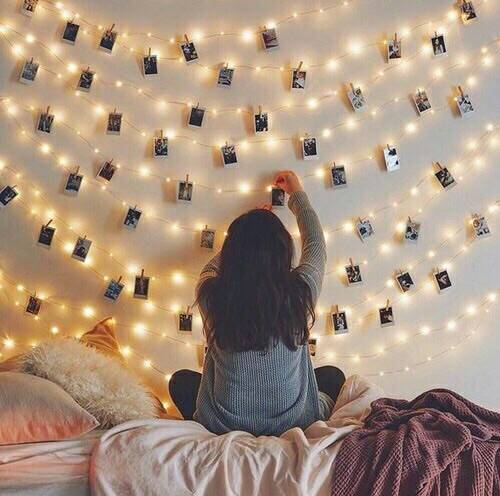 pretty, lights and diy image on We Heart It (24491)