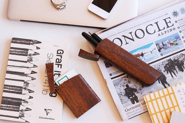 TANTO:(ナチュラル)【「短刀」をモチーフにした木製ペンケース】|オークヴィレッジオンラインショップ (24988)