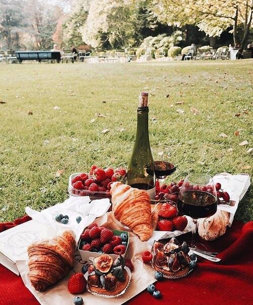 paris, eiffel and picnic image on We Heart It (25625)