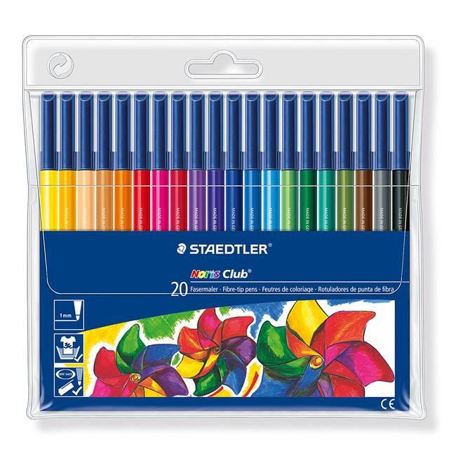Amazon | ステッドラー カラーペン ノリスクラブ 326WP20 20色 | 多色ボールペン | 文房具・オフィス用品 (27017)