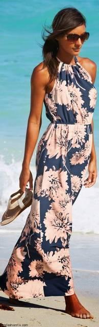 Summer = Floral printed maxi dress | Fashion Sense | Pinterest | かわいい夏服コーデのアイデア、スタイル、マキシドレス (28862)