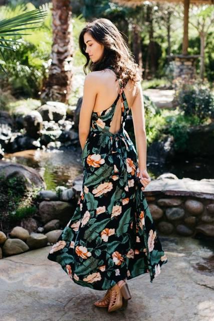 Botanical Beauty Maxi Dress | ビューティー、生活雑貨、マキシドレス (28872)