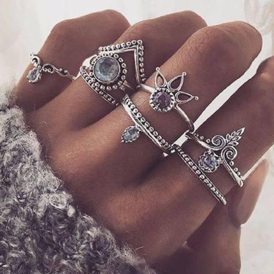 Jewels | ナックルリング、かわいい夏服コーデのアイデア、春 (29306)
