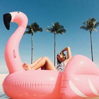 Flamingo Pool Float | かわいい夏服コーデのアイデア、プール、フラミンゴ (30369)