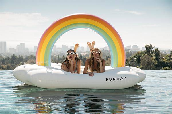 Rainbow Cloud Daybed | プール と Larger (30371)