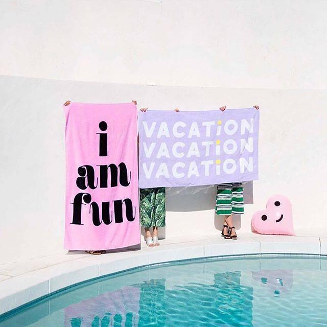 Beach, please! giant beach towel - vacation | バケーション と タオル (30396)
