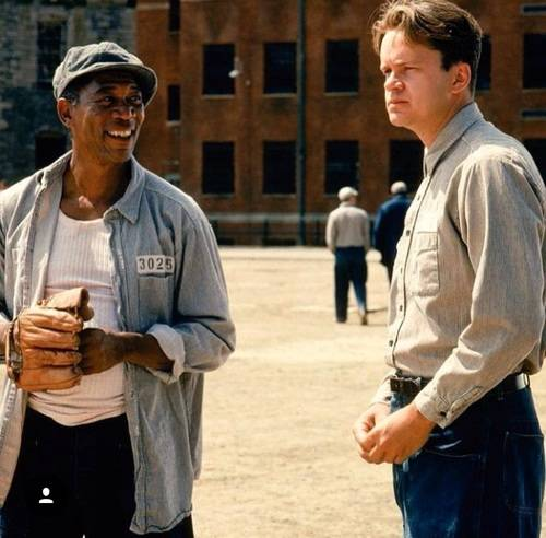 Morgan Freeman and Tim Robbins in Shawshank Redemption. (31963)