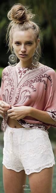 20 Boho Fashion Ideas | ボヘミアン と ヘアスタイル (37275)