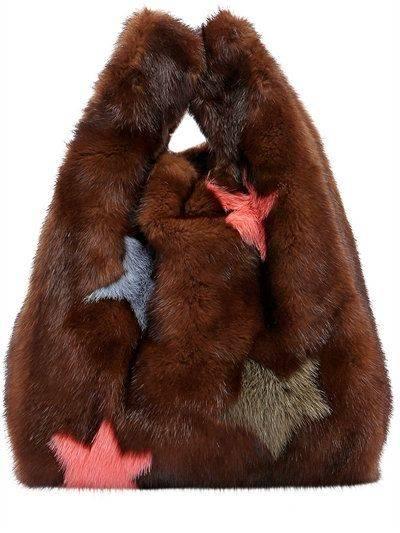 SIMONETTA RAVIZZA - FURRISSIMA STAR MINK FUR BAG - TOP HANDLES - BROWN/ORANGE - LUISAVIAROMA   Fashion   Pinterest   ファッションアイデア、アイデア、ファッション (37468)