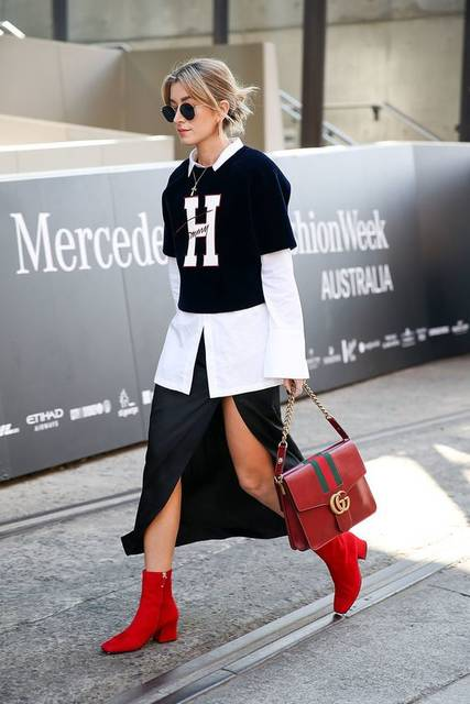 73 Styling Hacks to Steal From the Street Style Down Under | 赤い靴、ファッションコーデのアイデア、ファッションコーデ (40864)