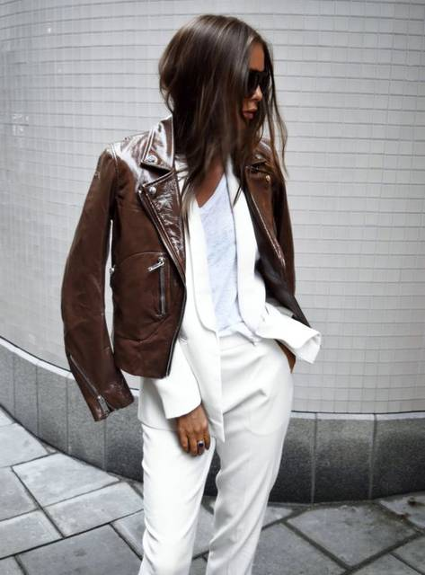 winter white + brown leather | My Style | Pinterest | 馬 (41335)