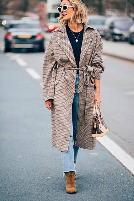 London Fashion Week Street Style | ファッションアイデア、ロングコート、コート (41416)