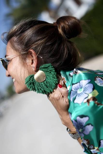 FLOWERED! LOOKS - Bartabac http://stylelovely.com/bartabacmode/2017/05/flowered | Green | Pinterest | したい と アクセサリー (43483)