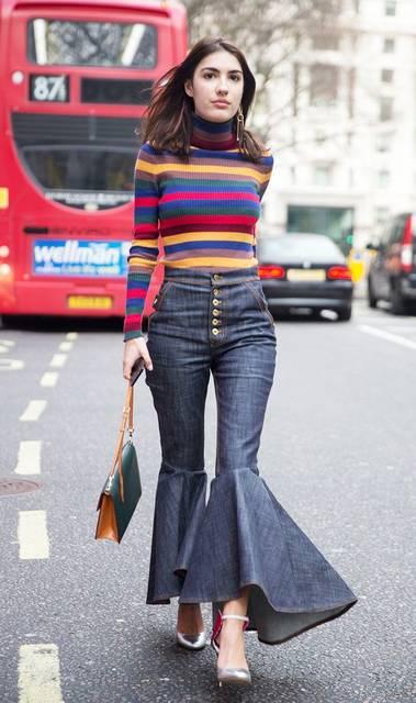 Fashion People Won't Stop Wearing This Surprising Jean Trend | パンツ、ファッションアイデア、アイデア (45481)