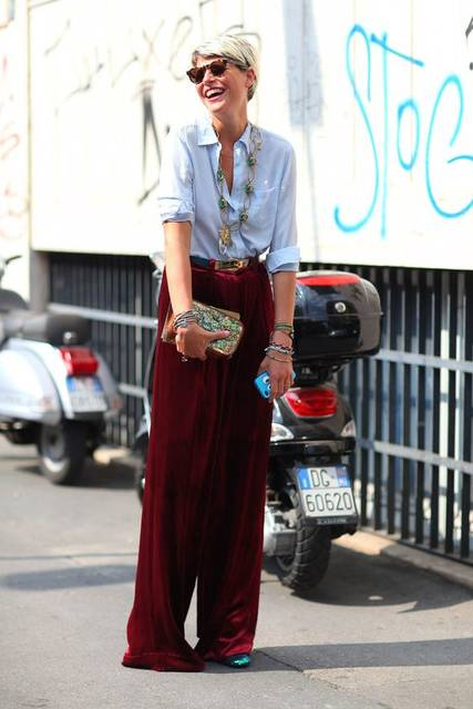 All the Best Street Style Straight From Milan Fashion Week!   パンツ (46128)