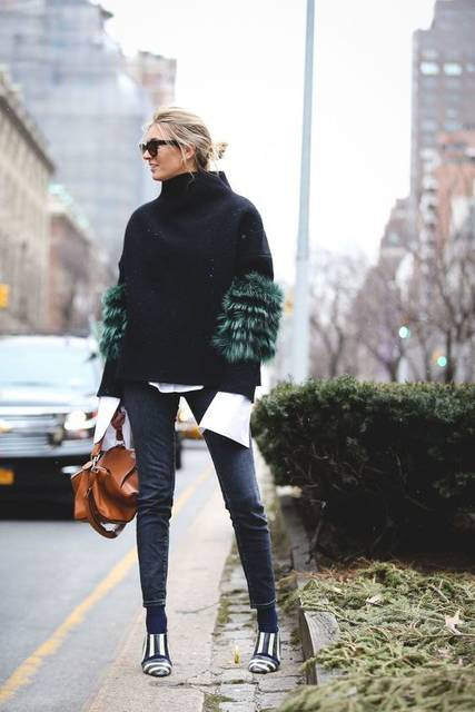 Lessons In Layering From The Streets Of New York City | アンマン、お仕事、ニット (46181)