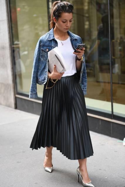 2017年春夏ニューヨーク・ファッション・ウィークから最新のストリート・スナップをお届け。 | Denim | Pinterest | ニューヨークファッションコーデ、ファッションウィーク、春夏 (46869)