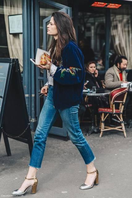 Street Style PFW VII (Collage Vintage) | ファッションのアイデア、古着、ブルー (46991)