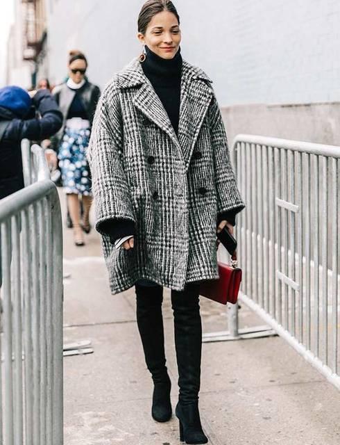 Cuissardes + manteau oversize + pull col roulé porté déroulé = le bon mix | •Fav• | Pinterest | コート、ファッションアイデア、アウター (47326)