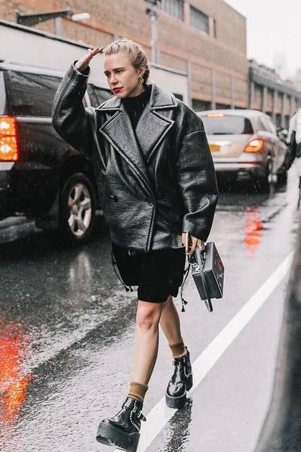 Street Style #NYFW / Día 2 | アウター、ファッションのアイデア、ストリートファッション (48238)