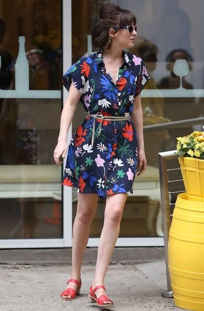 Batwing sleeve tea dress - Dakota Johnson (How to be Single movie)   outfits '16   Pinterest (48537)