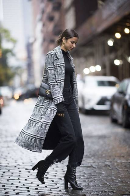 how to rock the latest fashion trends for winter: plaid winter coat, chic casual winter outfit idea for young women | Coat | Pinterest | Street styles, Street … (49728)