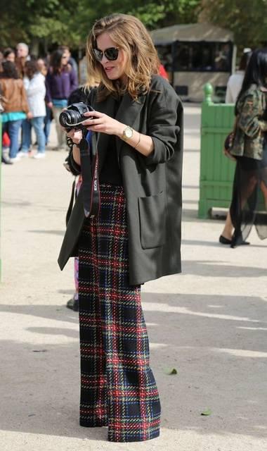 STREET STYLE PLAID TROUSERS TARTAN CHECKERED PANTS FASHION WEEK  ASOS TARTAN WIDE LEG TROUSERS ..WANT!!! | Fuck Yea!! Plaid!!!!!!! | Pinterest | Wide leg trous… (50112)