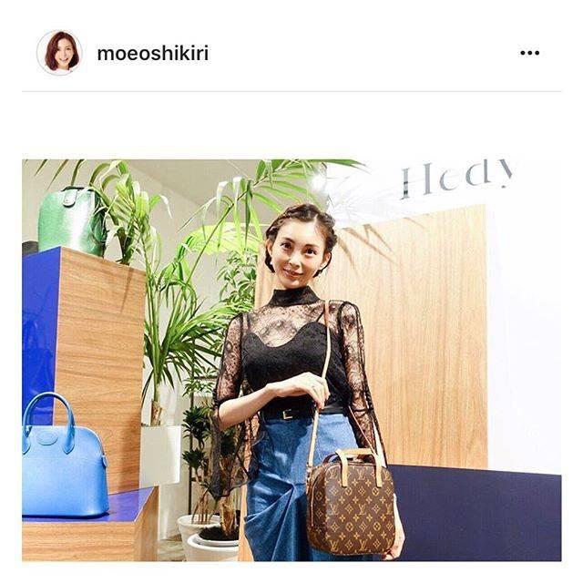 """Hedy (エディ) on Instagram: """"モデルとして大活躍中の押切もえさんがHedy展示会での様子をアップしてくださいました♡もえさん @moeoshikiri 、ありがとうございます♡#hedy_japan #louisvuitton #lv #model"""" (52900)"""