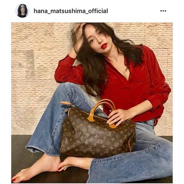 """Hedy (エディ) on Instagram: """"モデル兼女優として大活躍されている松島花さんがHedy展示会にてLouis Vuitton Speedy35をご購入くださいました。  Hanaさん @hana_matsushima_official 、ありがとうございました♡  #hedy_japan…"""" (52904)"""