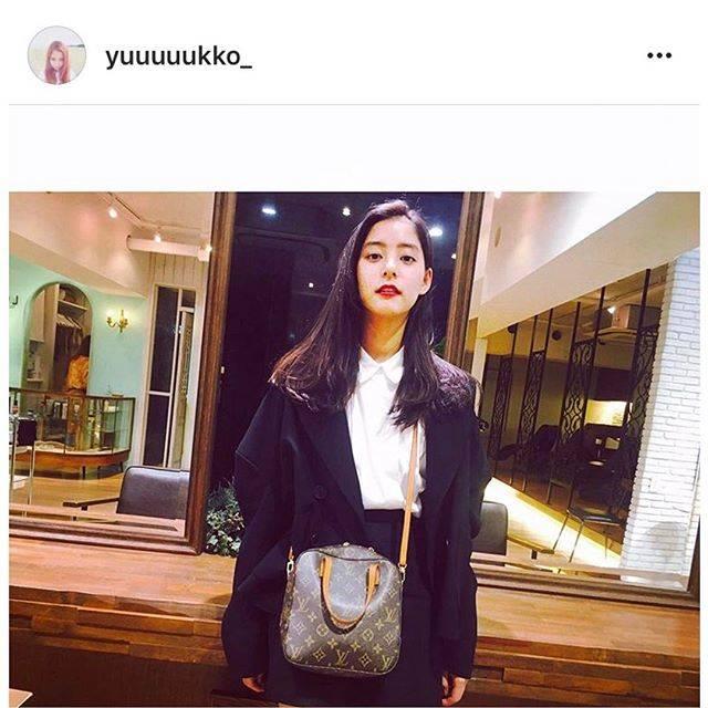"""Hedy (エディ) on Instagram: """"女優兼nonno専属モデルとして大活躍されている新木優子さんがHedy商品 Louis Vuitton モノグラム スポンティーニをご愛用くださっています!  優子さん @yuuuuukko_ 、ありがとうございます♡♡ #hedy_japan #vintage…"""" (52907)"""