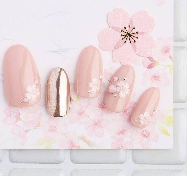 "nail salon blanc on Instagram: ""さくらネイル♡  nail salon BLANC 大阪市中央区 本町 http://www.nail-salon-blanc.com/ http://ameblo.jp/nail-salon-blanc/…"" (53386)"