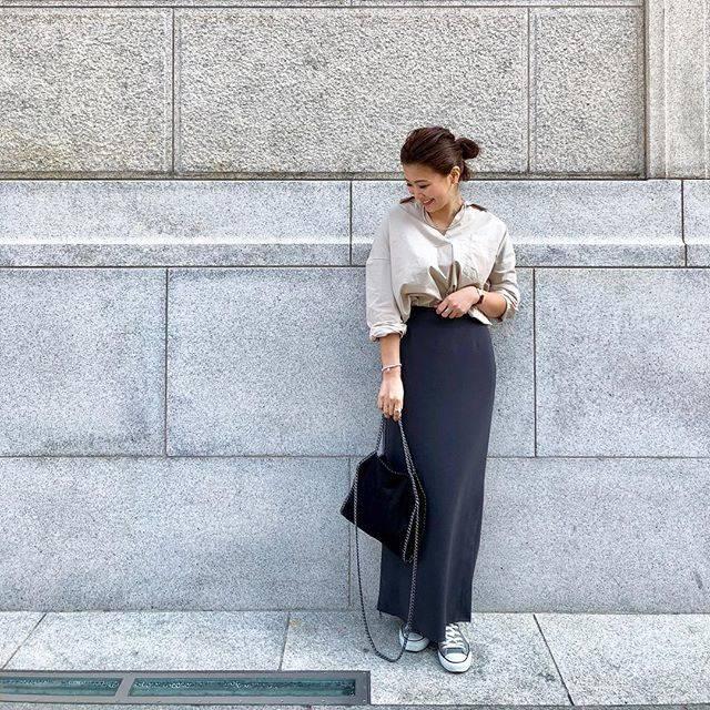 """hideka nagao on Instagram: """"ビッグシルエットのシャツは. ドツボの形❤️. . 入荷して可愛いなってずっと気になってた👚💓. . でもやっぱり買ってよかった〜❣️😍. . #ciaopanictypy #チャオパニックティピー #淀屋橋 #お仕事コーデ #タイトスカート #タイトスカートコーデ…"""" (54278)"""