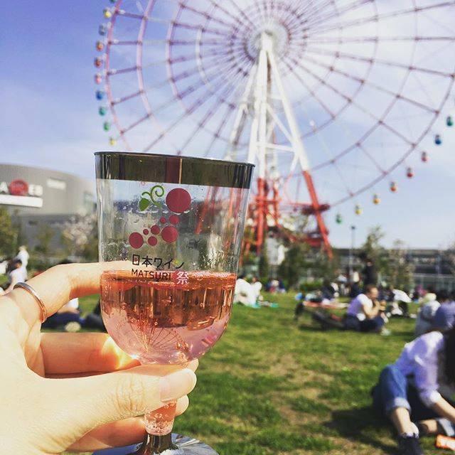 MarikoさんはInstagramを利用しています:「いい天気ー!昼間からワイン飲んでます🍷#お台場 #日本ワイン祭り #土日休み嬉しい #雨女返上」 (54430)