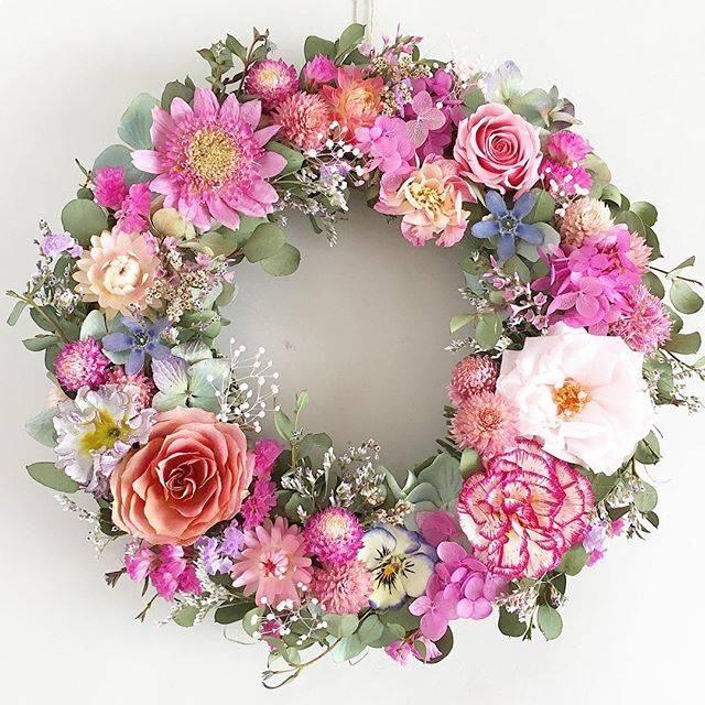 Natural CoeurさんはInstagramを利用しています:「・ ブルースターの小さなお花が、可愛いアクセントになっています。 ・ #flowerstagram #flowerwreath #dryflowers #ドライフラワー #ドライフラワーリース #ドライフラワーのある暮らし #ドライフラワー作り #ハンドメイド作家…」 (54741)