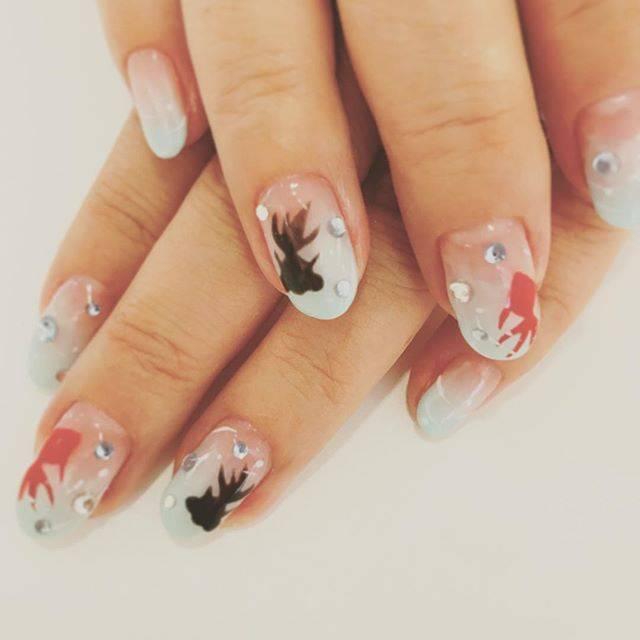 couleurnailsalon クルールネイルさんはInstagramを利用しています:「お祭りネイル🐟🐡🐠 #金魚#でめきん#ネイル#アート#夏#祭り#涼しげ#浴衣ネイル#かわいい#goldfish#nailsdesign #summer#cute#cool#summerfestival#japan#instapic #instagood #instanails…」 (55129)