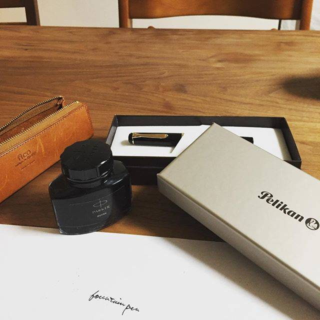 Shunsuke KimuraさんはInstagramを利用しています:「I received a Pelikan fountain pen and a bottle of Parker black ink for 30th BD presents a week after the day. It will make writing more…」 (55792)