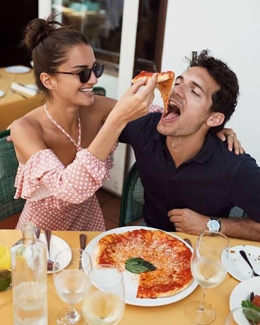 "G A B R I E L L E on Instagram: ""When you allow him to have a slice, you know it's real 🍕 @riccardopozzoli #iloveyoumorethanpizza 🐷 💕🐽"" (57876)"
