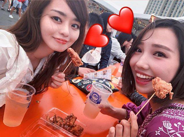 """丸林広奈 on Instagram: """"GW⭐️🍖#gw #肉フェス #tokyo #お台場"""" (58156)"""