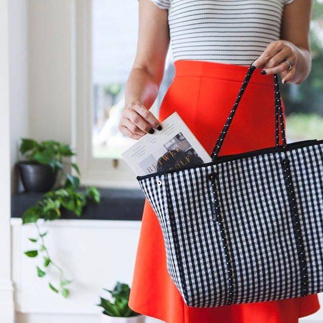 "Willow Bay Australia®️ on Instagram: ""Our beautiful Black & White Gingham Bag looks so gorgeous against @lucy_cornes red skirt! Thanks for the pic @sheshopped"" (58960)"