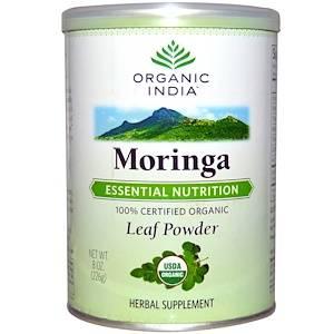 Organic India, モリンガ リーフパウダー, 8 オンス (226 g) - iHerb.com (53669)