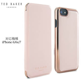 Ted Baker テッドベイカー ミラー付 手帳型 iPhone6/6s iPhone7 Case (54287)