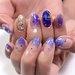 寒い季節にぴったり♡紫系カラーを取り入れたネイルデザインがおしゃれ♡