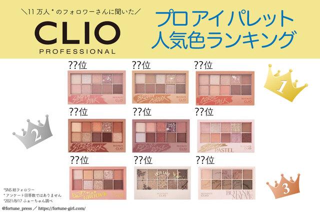 CLIO(クリオ)『プロ アイ パレット』人気トップ5発表!捨て色なしのアイパレット人気第1位は?