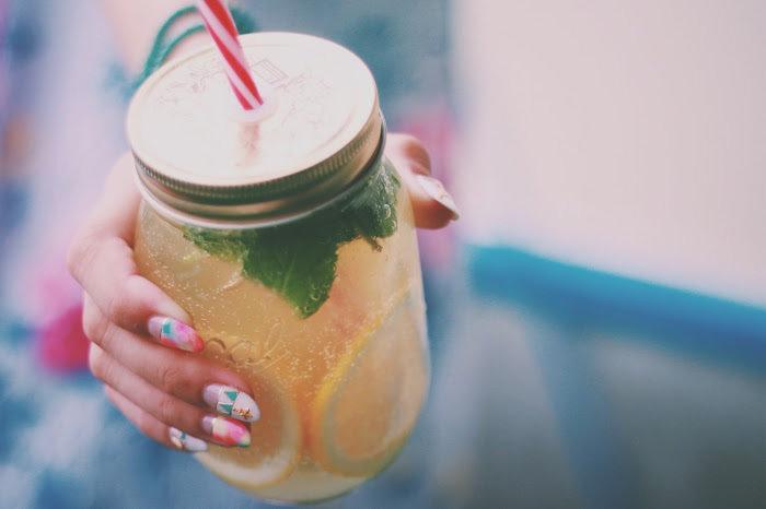 レモン酢を飲む