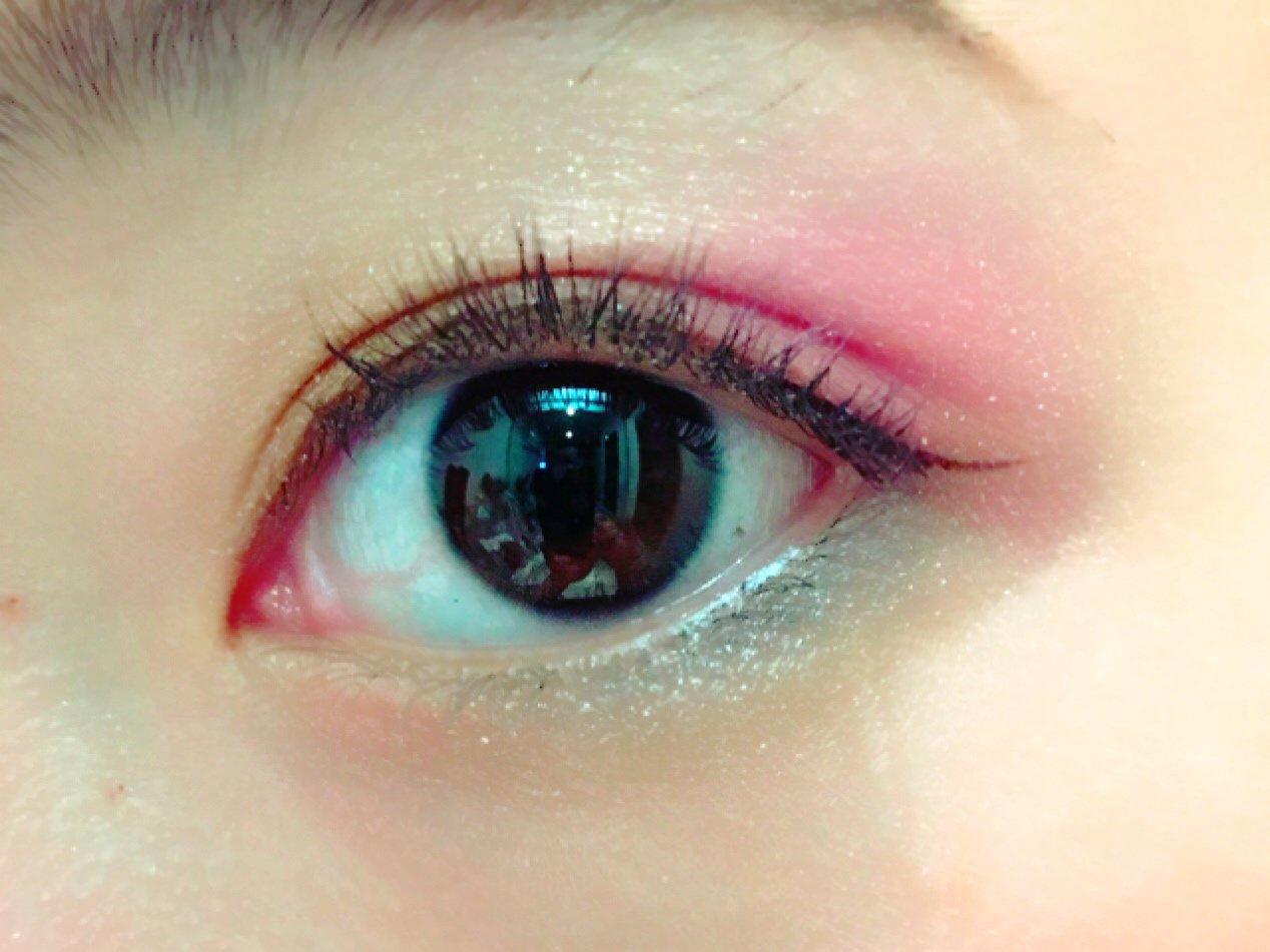ピンクメイク(自撮り)