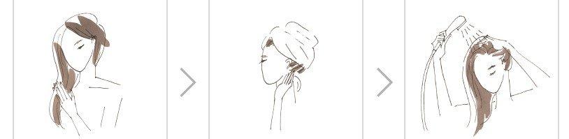 R&Aヘアマスク(ローズ&アプリコット)の使い方