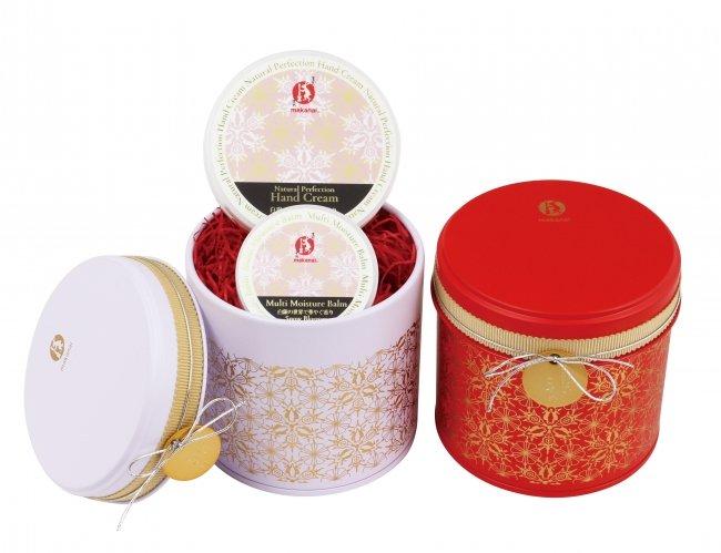 白銀の世界で華やぐChristmas缶コフレ(赤/白)