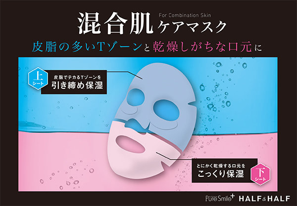 ピュアスマイルプラス ハーフ&ハーフマスク 混合肌ケアマスク
