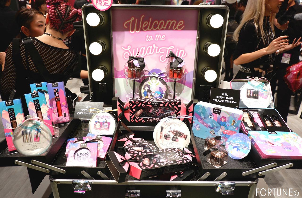 NYX(ニックス) NYX Professional Makeup ルクア大阪店 西日本初 2018クリスマスコフレ ホリディコレクション SUGAR TRIP